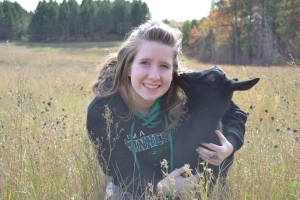 Abby and goat